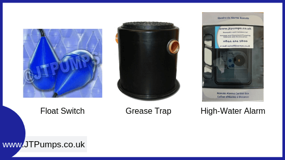 Selection of accessories for packaged pump station