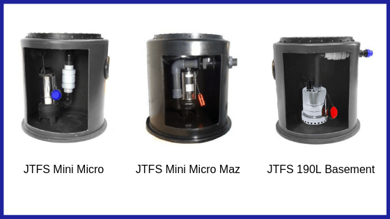 Selection of mini sewage pumping stations available at JT Pumps