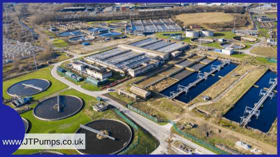 Photo of a wastewater treatment works in the UK