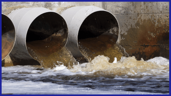 Pipes carrying waste to main sewage system