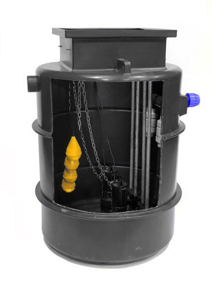 Surface/Storm Water Pumping Station 2 inch JTDual Rigged (twin Guide Rail) upto 10m lift (1)